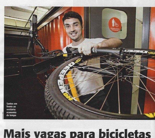 Mais vagas para bicicleta